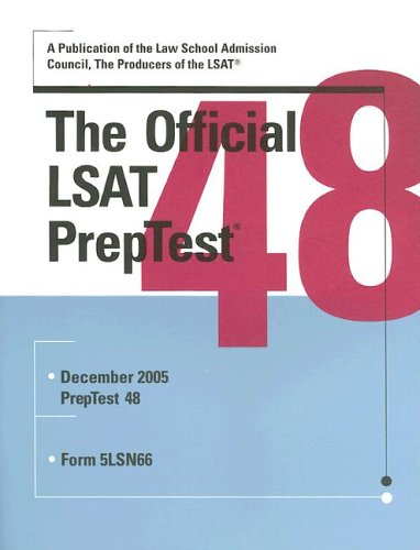 The Official LSAT Preptest: Number 48 9780976024545