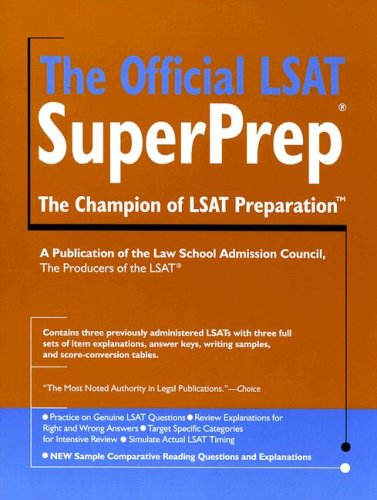 The Official LSAT SuperPrep 9780979305061