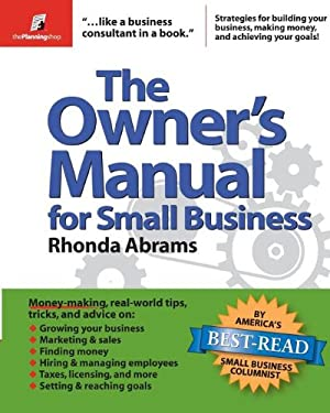 The Owner's Manual for Small Business 9780974080154