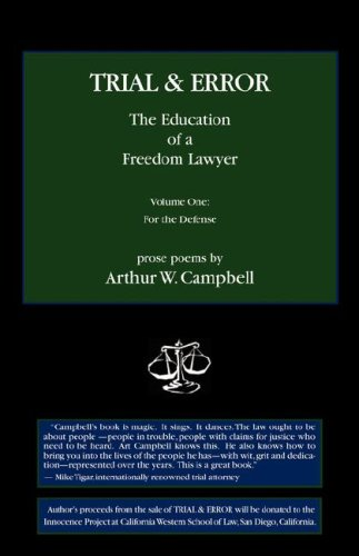 Trial & Error: The Education of a Freedom Lawyer 9780978959746