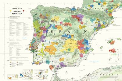 Wine Map of the Iberian Peninsula 9780972363242