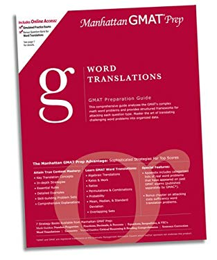 Word Translations GMAT Preparation Guide 9780974806921