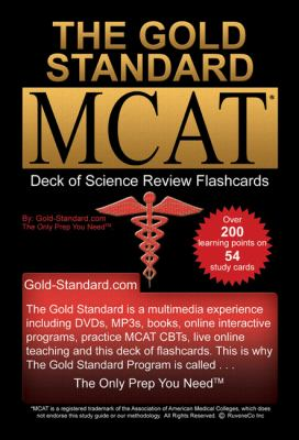 The Gold Standard Deck of Flashcards for the New MCAT CBT (Science Review) 9780986691515