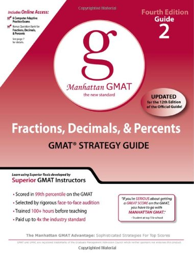 Fractions, Decimals, & Percents GMAT Preparation Guide 9780982423820