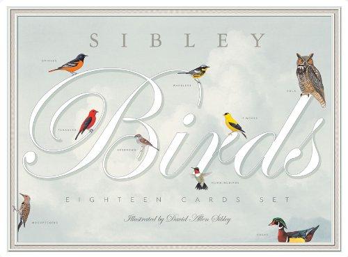 Sibley Birds Eighteen Card Set [With Envelope] 9780982510223