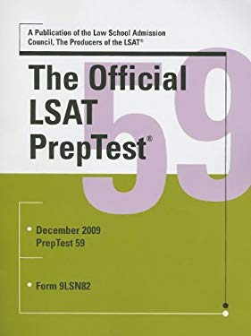 The Official LSAT PrepTest: Form 9LSN82 9780982148730