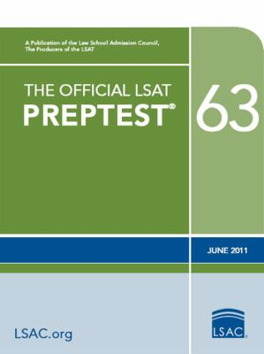The Official LSAT Preptest 63 9780984636013