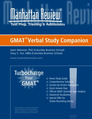 Verbal Study Companion - Turbocharge Your GMAT 9780982432433