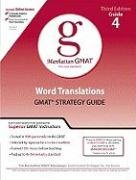 Word Translations GMAT Preparation Guide 9780981853376