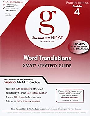 Word Translations GMAT Strategy Guide 9780982423875