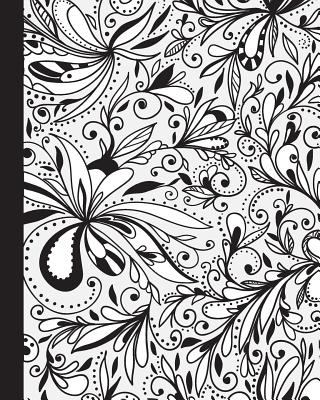 JOURNAL: Color Your Own Cover Lined Journal with Doodle Floral Swirls