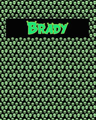 120 Page Handwriting Practice Book with Green Alien Cover Brady: Primary Grades Handwriting Book