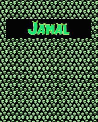 120 Page Handwriting Practice Book with Green Alien Cover Jamal: Primary Grades Handwriting Book