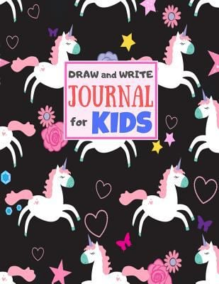 Draw and Write Journal for Kids: Cute Unicorn Matte Cover Design for Drawing, Creative Writing, Doodling, Creating Your Own Story, Illustration Book .