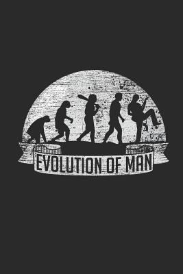 Evolution Of Man: Blank Lined Notebook / Journal (6 X 9 -120 Pages) Gift Idea for Guitarist And Musician
