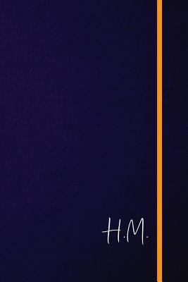 H.M.: Classic Monogram Lined Notebook Personalized With Two Initials - Matte Softcover Professional Style Paperback Journal Perfect Gift for Men and W