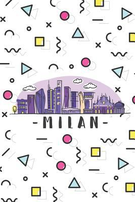 Milan: ~ Neutral Wide-Ruled Blank Journal Travelers Notebook With City Skyline Cover