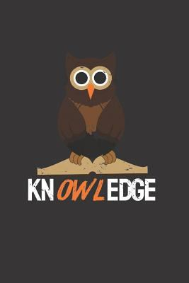 Notebook: Cute Owl Pun Knowledge Bookworm Lined Journal
