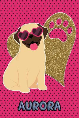 Pug Life Aurora: College Ruled | Composition Book | Diary | Lined Journal | Green