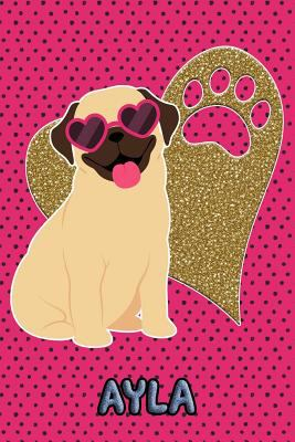 Pug Life Ayla: College Ruled | Composition Book | Diary | Lined Journal | Green
