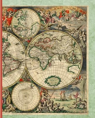 Vintage World Map: Diary Weekly Spreads July to December (Academic Planners 2019 - 2020)