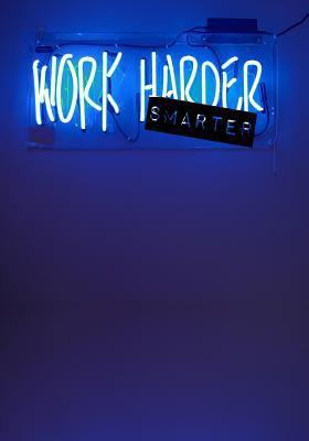 WORK SMARTER: 7x10 Wide Ruled Notebook : Work Office Home School