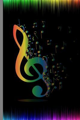 """Watercolor Rainbow Notes: Music Symbol Instrumental Gift For Musicians (6""""x9"""") Music Notes Paper To Write In"""