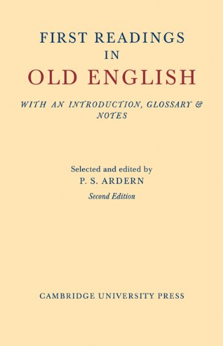 First Readings in Old English 9781107601253
