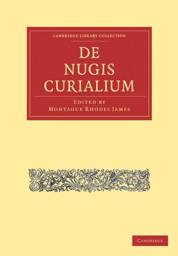 de Nugis Curialium 9781108011709