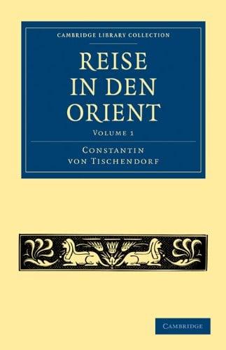 Reise in Den Orient 9781108014762