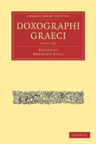 Doxographi Graeci 9781108015493