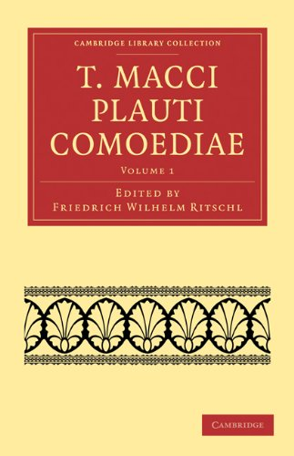 T. Macci Plauti Comoediae 9781108015622