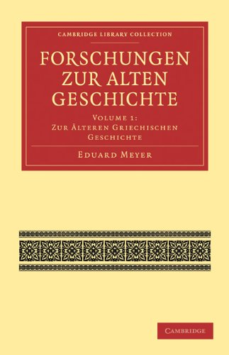 Forschungen Zur Alten Geschichte 9781108016896
