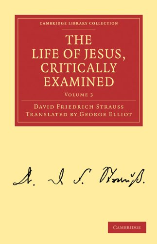 The Life of Jesus, Critically Examined 9781108019583