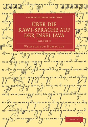 Uber Die Kawi-Sprache Auf Der Insel Java 9781108031547