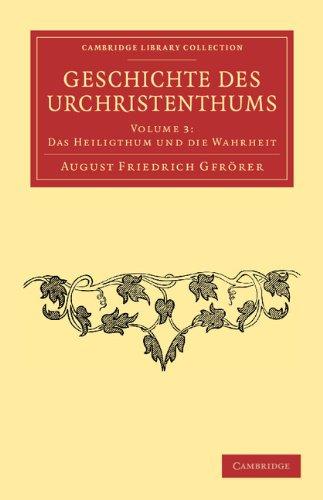 Geschichte Des Urchristenthums 9781108053686