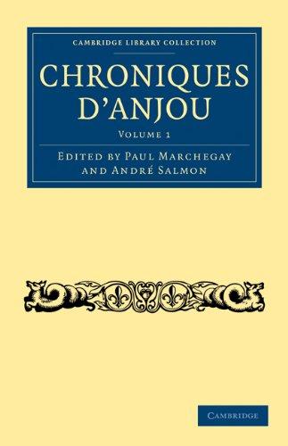 Chroniques D'Anjou 9781108018296