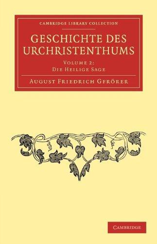 Geschichte Des Urchristenthums 9781108053679