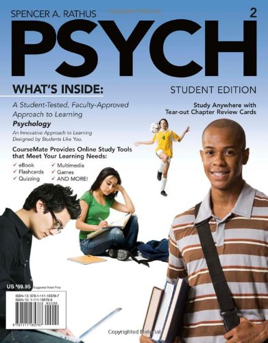 Psych (with Review Cards and Psychology Coursemate with eBook Printed Access Card) 9781111185787