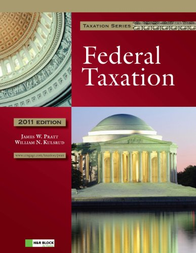 2011 Federal Taxation (with H&r Block at Home Tax Preparation Software CD-ROM) 9781111221614