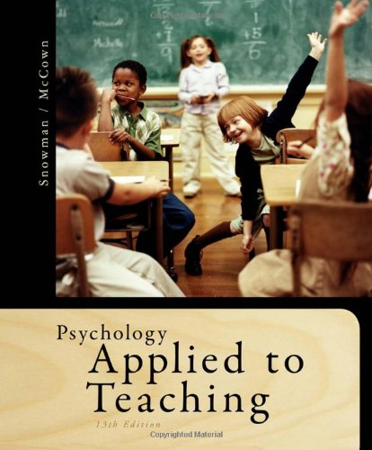 Psychology Applied to Teaching 9781111298111