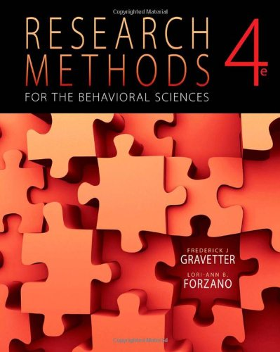 Research Methods for the Behavioral Sciences 9781111342258