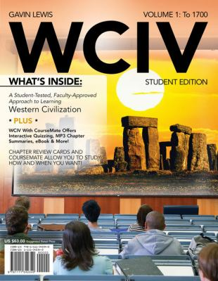 Wciv, Volume 1: To 1700 [With Flash Cards and Access Code] 9781111342340