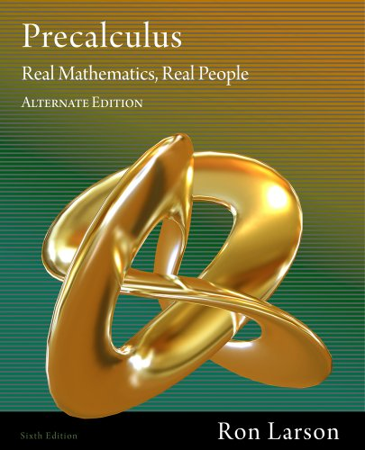 Precalculus: Real Mathematics, Real People, Alternate Edition 9781111428433