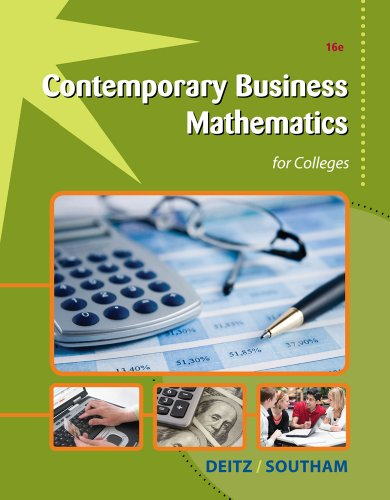 Contemporary Business Mathematics for Colleges [With Access Code] 9781111821326