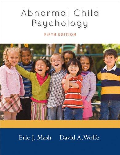 Abnormal Child Psychology 9781111834494