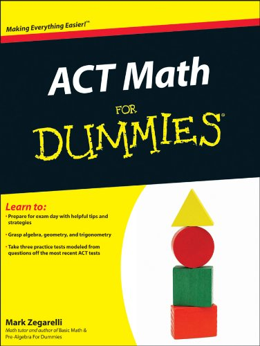 ACT Math for Dummies 9781118001547