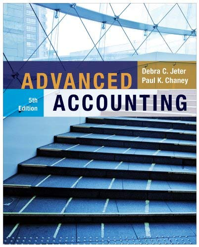 Advanced Accounting 9781118022290