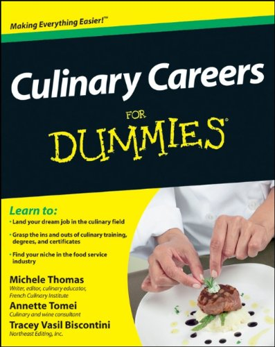 Culinary Careers for Dummies 9781118077740