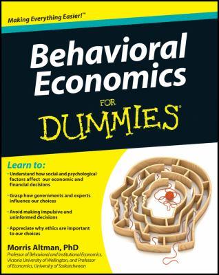 Behavioral Economics for Dummies 9781118085035